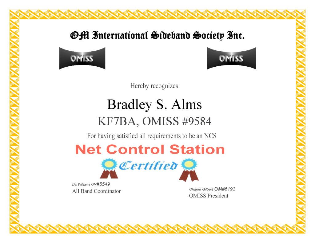 KF7BA NCS