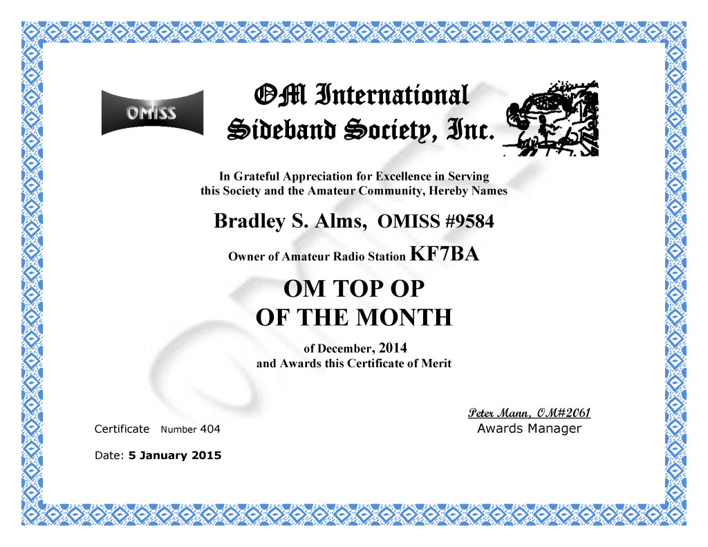 KF7BA_TOP OP_MONTH_DEC_2014
