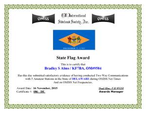 KF7BA State Flag Award DE
