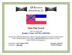 KF7BA State Flag Award MS