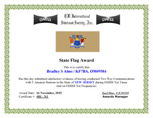 KF7BA State Flag Award NJ