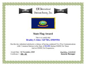 KF7BA State Flag Award ID