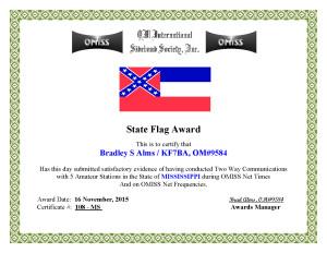 KF7BA State Flag Award MS